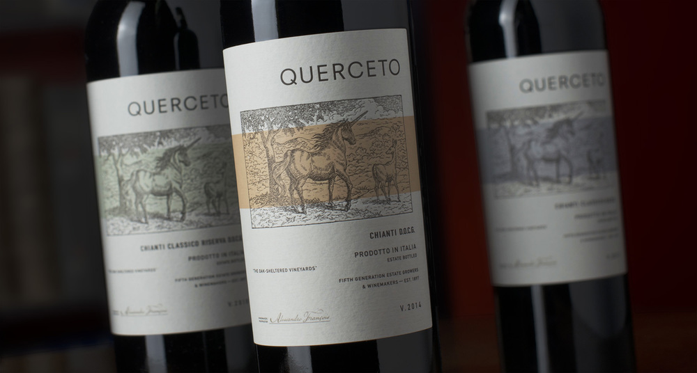 Auston Design Group - Querceto Chianti 3 Bottle Close-up