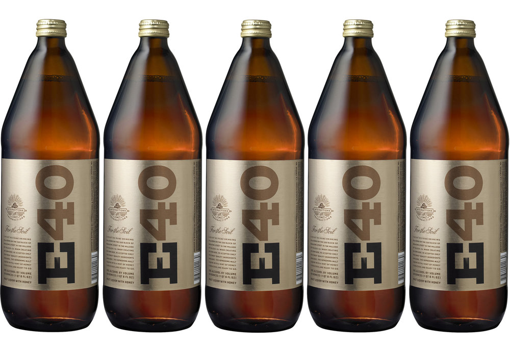 Auston Design Group - E40 Malt Liquor 40oz. 5 bottles