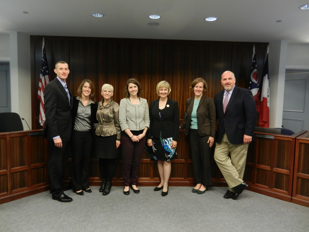 Left to right: Matt Brown, Jill Clark, Commissioner Marilyn Brown, Caitlin Marquis, Commissioner Paula Brooks, Amy Bodiker, Commissioner John O'Grady