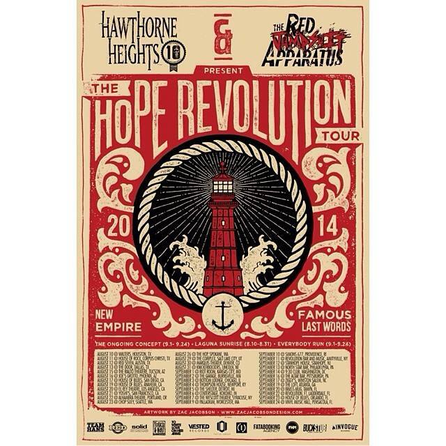 The Hope Revolution Tour Hawthorne Heights // Red Jumpsuit Apparatus // Famous Last Words Senick // Everybody Run // The Ongoing Concept