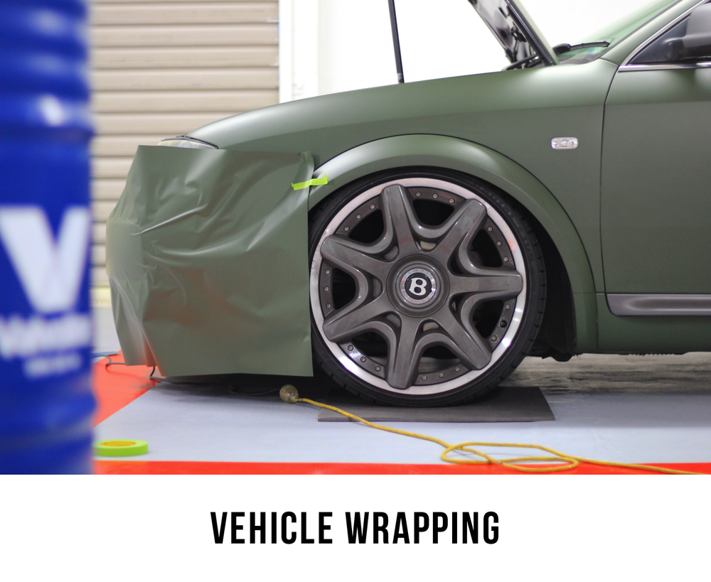 Utilizing the highest quality in modern vinyl, we can completely or partially change the colour of your vehicle for a totally new and refreshed look. Completely covering and protecting the vehicles original paint work - we call this vehicle wrapping.    Stone chips, scratches and everyday wear and tear no longer apply - any section of the car is easily replaced as desired. Bring your car into The Wrap Shop and we will have it looking like it just rolled off the showroom floor!