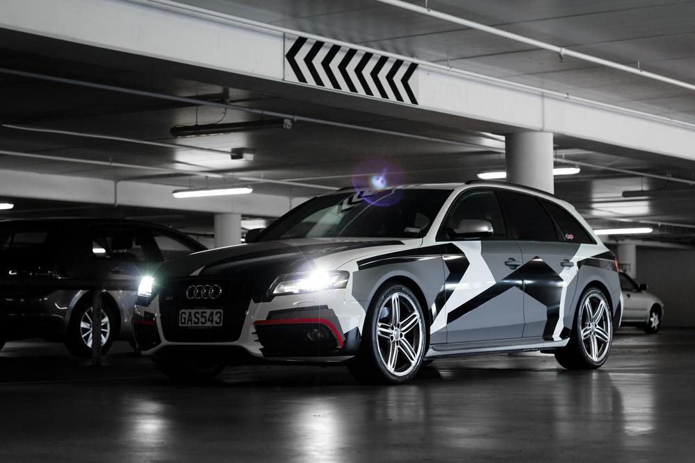 Audi Snow Camo Vinyl Wrap