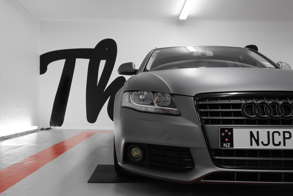 Front view Audi A4