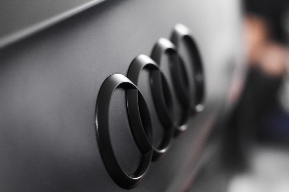 Matte Black Audi Badge