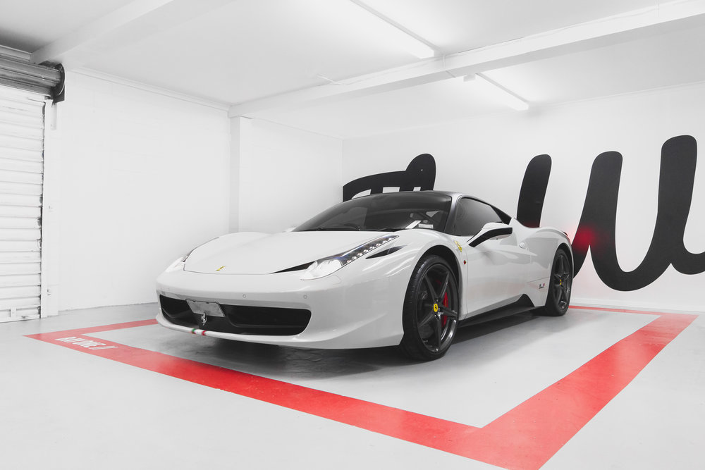ferrari 458 wrapped
