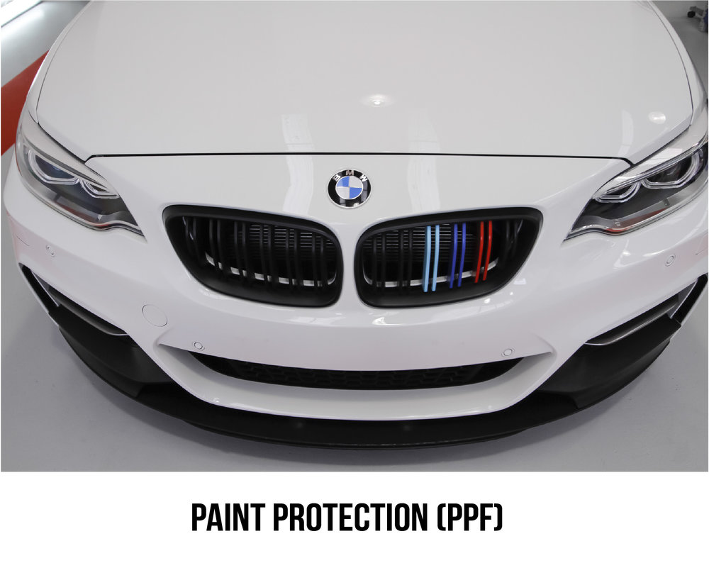 What are your benefits?    24/7 protection from stone chips, bug damage, road tar, bird droppings, out door weathering & day to day scratches. Your vehicle's exterior won't age a day. Keep your vehicle looking better for longer by applying a high durability clear film that goes unnoticed, preserving the paints original high gloss finish. Protecting your investment and protecting the re-sale value of your vehicle.