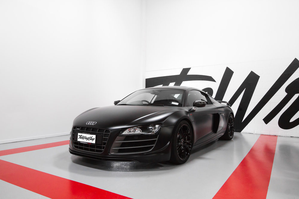 Audi R8 GT wrapped Satin Black