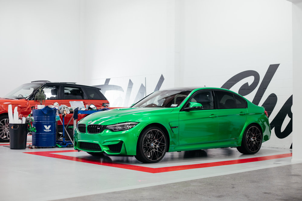 Wrapped BMW Green