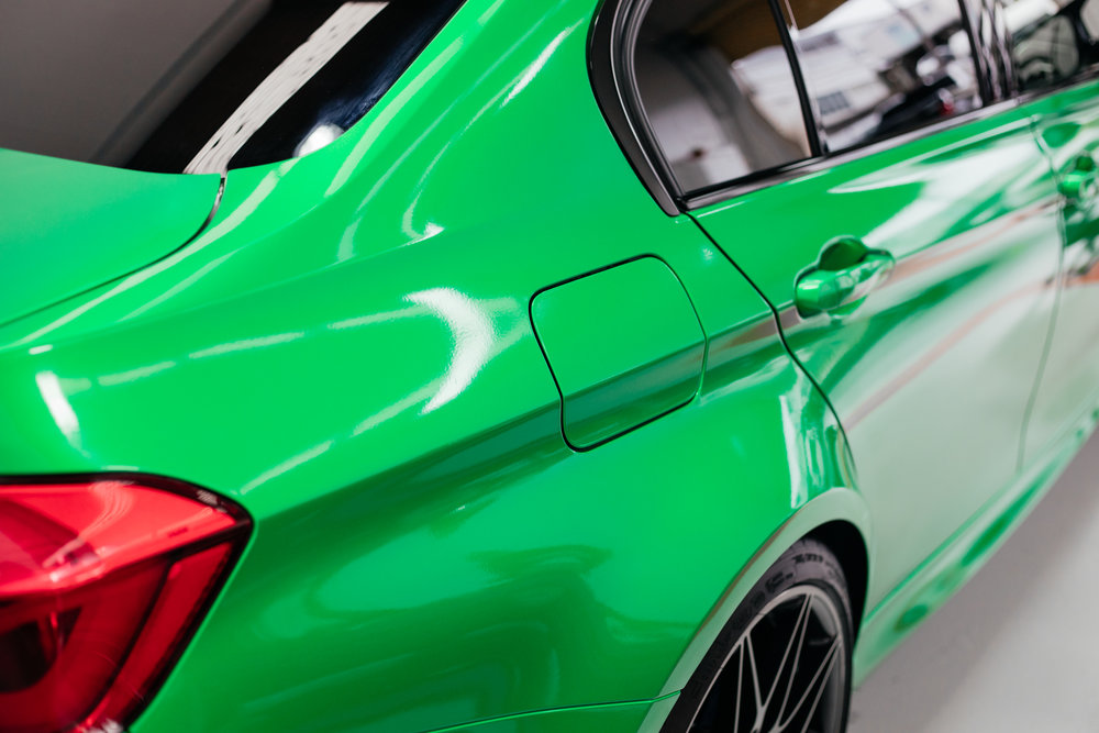 Gloss Green BMW wrapped
