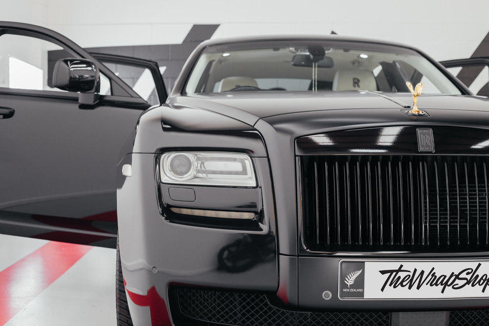 Black Rolls Royce Ghost Wrapped