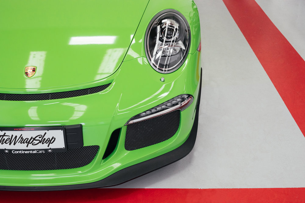 Wrapped Porsche Gt3 green