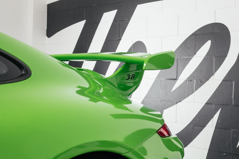 Wrapped Porsche Gt3 wing