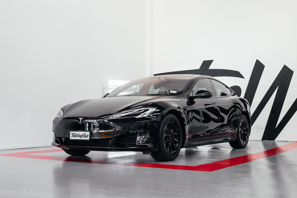 Paint Protection Tesla Model S | Black out package