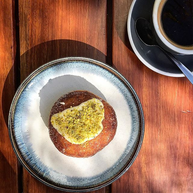 ACCOMPLISH. Weekends are all about tick off your to do list. Make sure one of our house made doughnuts is on that list. Passionfruit curd white chocolate with a single o long black by @pabloandrustys. A perfect match #eatrealfood #sydneyfood #sydneyeats #sydneycafe #sydneybakery #doughnuts #longblack #singleorigin #sydneycoffee #sweettreat #moderation #local #bondi #breakfastinsydney