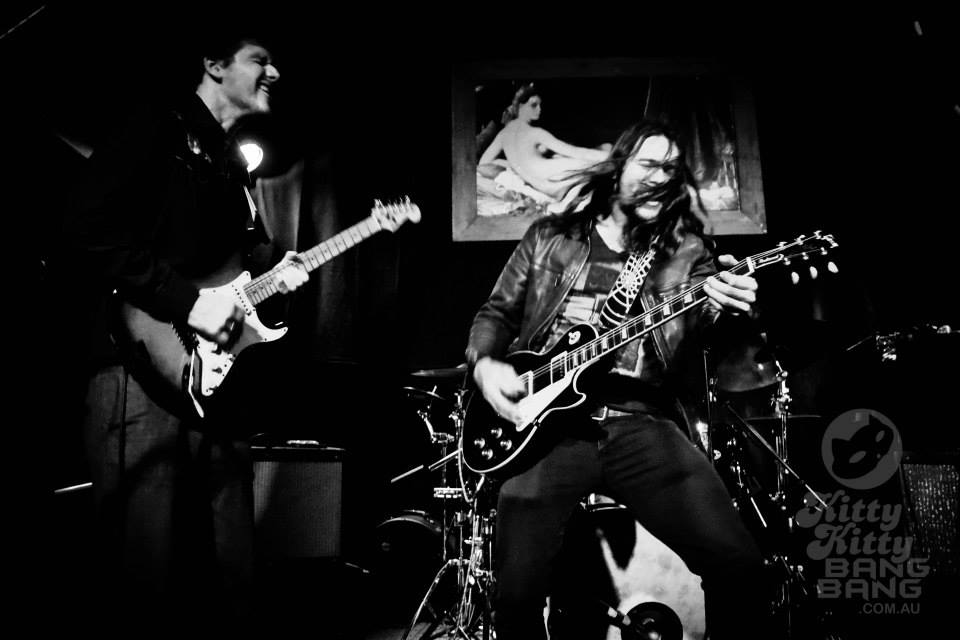 Phil Barlow and The Wolf had an epic stage presence at their Faith or Fear single launch in 2014 at the  Beetle Bar