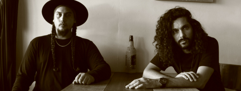 Kahl Wallis (left) features on new Luka Lesson (right) track,  Living Artefact .