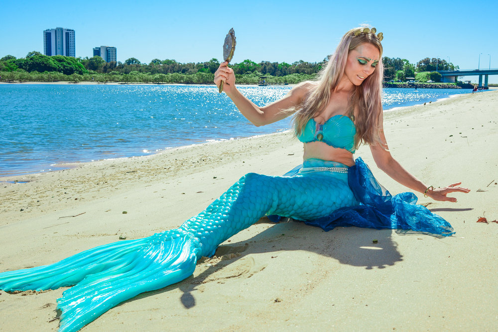 The Living Mermaid set to bring some magic to 2017's Buskers by the Creek. Pic: Greg Hosking