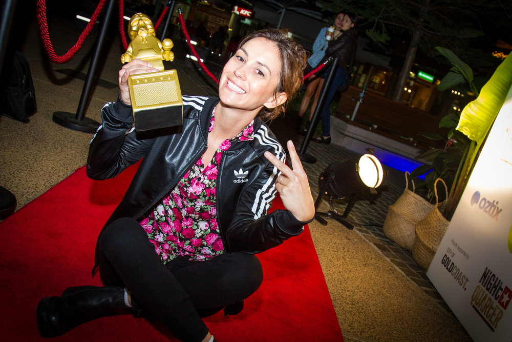 Amy Shark on the red carpet; 2017 Gold Coast Music Awards Artist and Song of the Year winner.