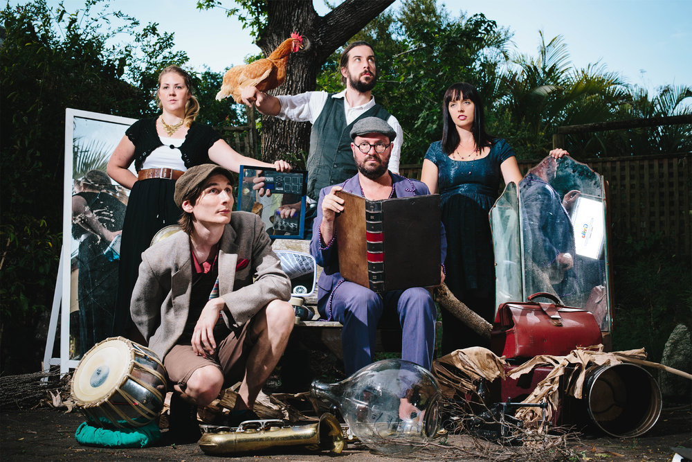 GRESHKA (QLD)  Loosen your suspenders, tighten your shoelaces and get ready to flap your extremities. Greshka is a five piece neo-gypsy/klezmer ensemble that pride themselves on surprising and delighting their audiences with their eclectic mix of influences and unique brand of quirky music. Picture a torn canvas of Romanian gypsy, with a filthy smear of western metal, jazz-funk and classical-arrangement, and you'll be well prepared for Greshka's insane live show.
