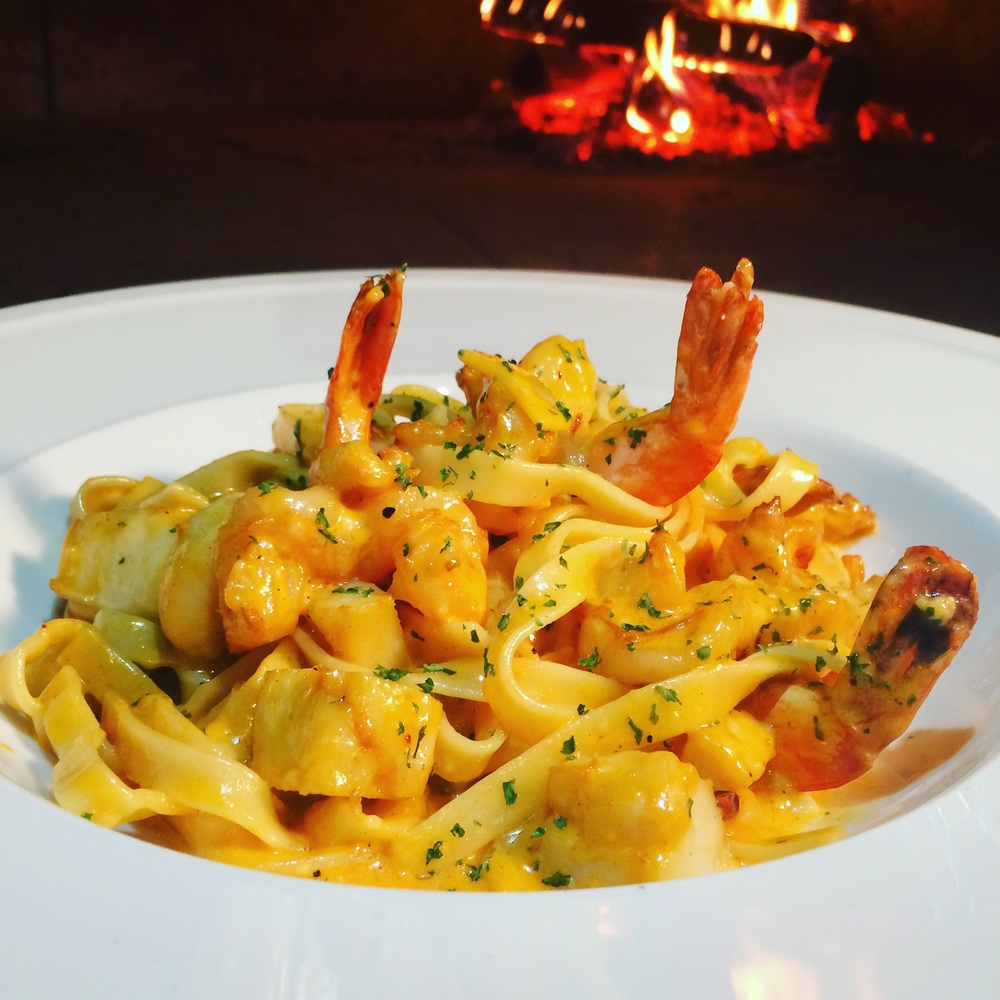Tagliatelle with Shrimp & Scallops