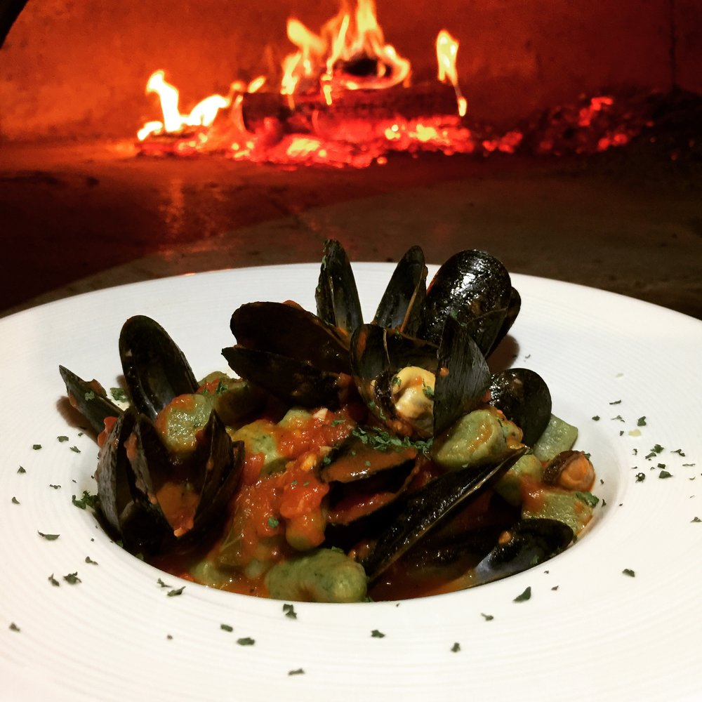 Spinach Gnocchi & Mussels
