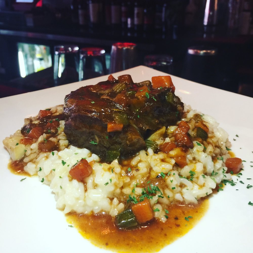 Veal Osso Bucco slow braised veal shank served over porcini risotto $26