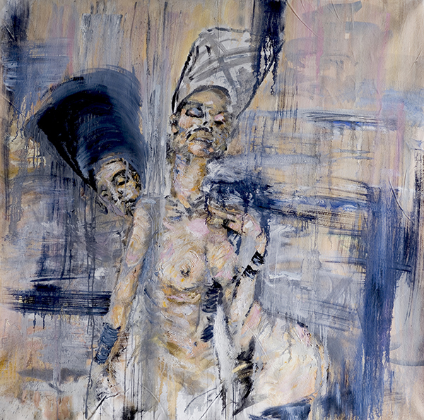 la oreja   Oil and Charcoal on Canvas. 2012   For pricing and additional images please email   lindsay@thesherwinassociates.com