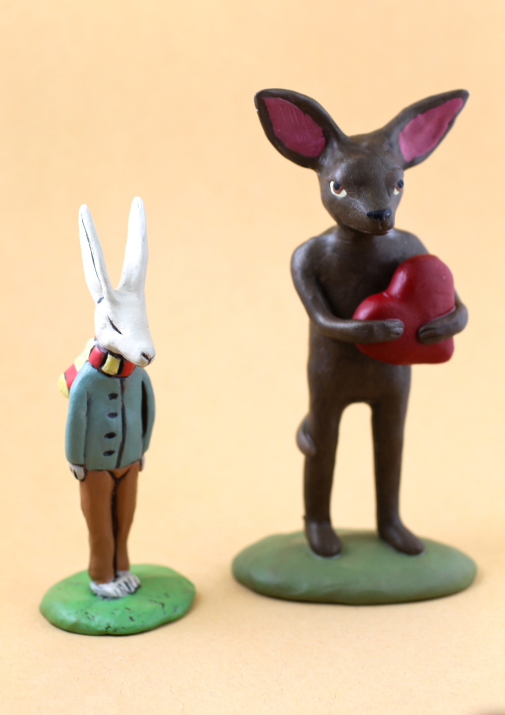 Assorted Rabbit Statuettes
