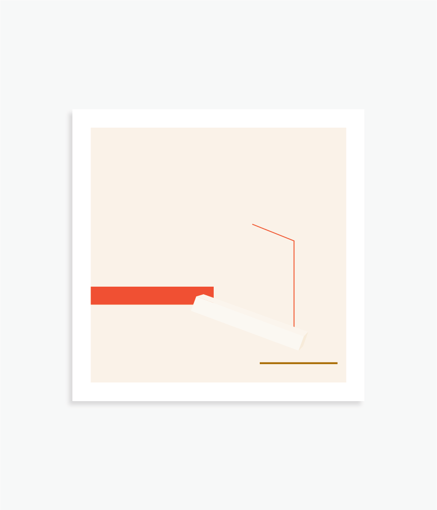"""Fade In, Fade Out   8"""" x 8"""" vector illustration, 2018"""