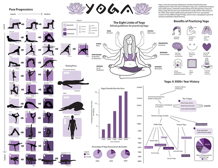Yoga Infographic (Vector)