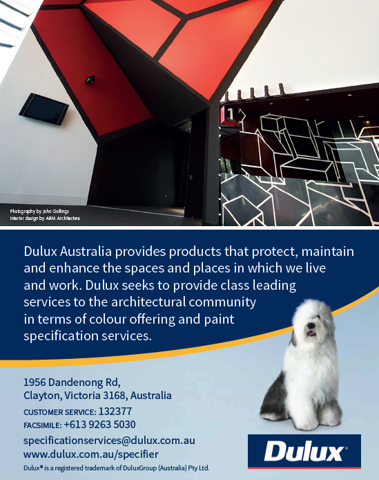 Quarter Page Advertisement for Dulux Australia for ABNS Magazine