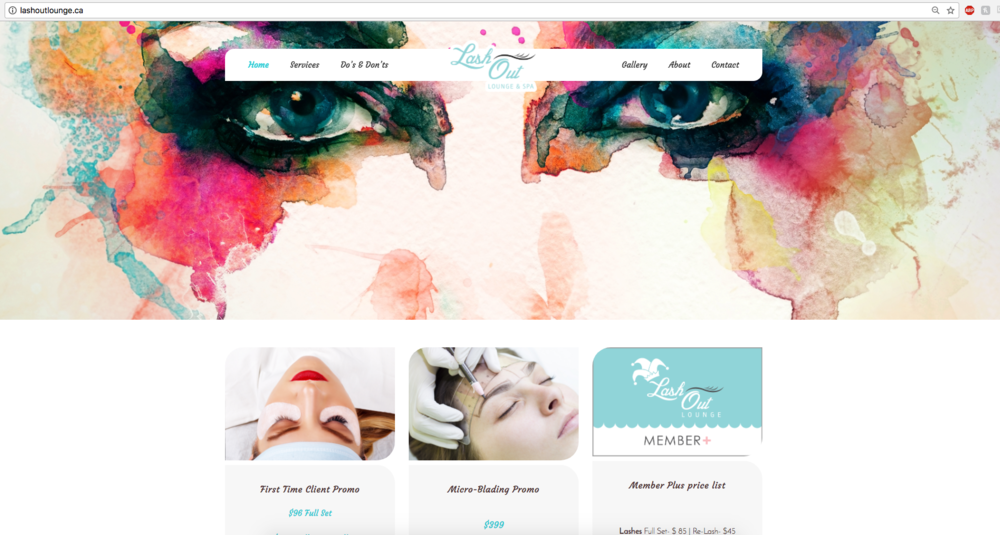 Lash Out Lounge & Spa Website