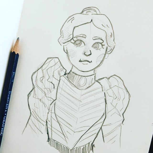 I started watching The Alienist on @netflix and the costumes for Sara Howard are just so so pretty 😍  #thealienist #netflix #sarahoward #costuming #drawing #doodle #dakotafanning #sketchbook #sketches #fanart #dailydoodle #pencil #artist #artsy #thosesleevestho