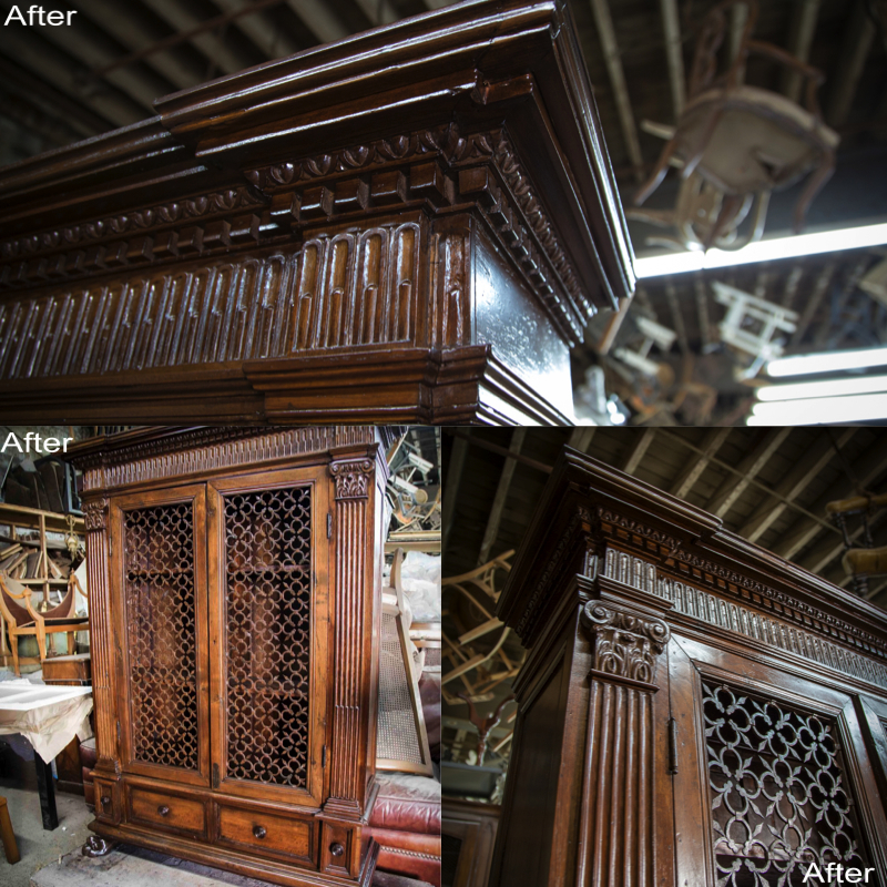 Antique Armoire (After) Custom Crown Molding , French Polish applied