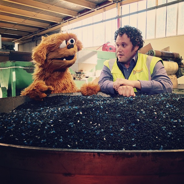 Can you guess what Moe is learning about in Christchurch w. Kris from Sandford Industries?