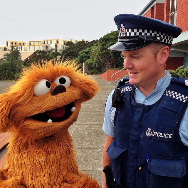 Regram courtesy of @NewZealandPolice. Many thanks! Moe spent an awesome day with these guys and is really looking forward to sharing the adventure! #NZPolice #SaferCommunitiesTogether