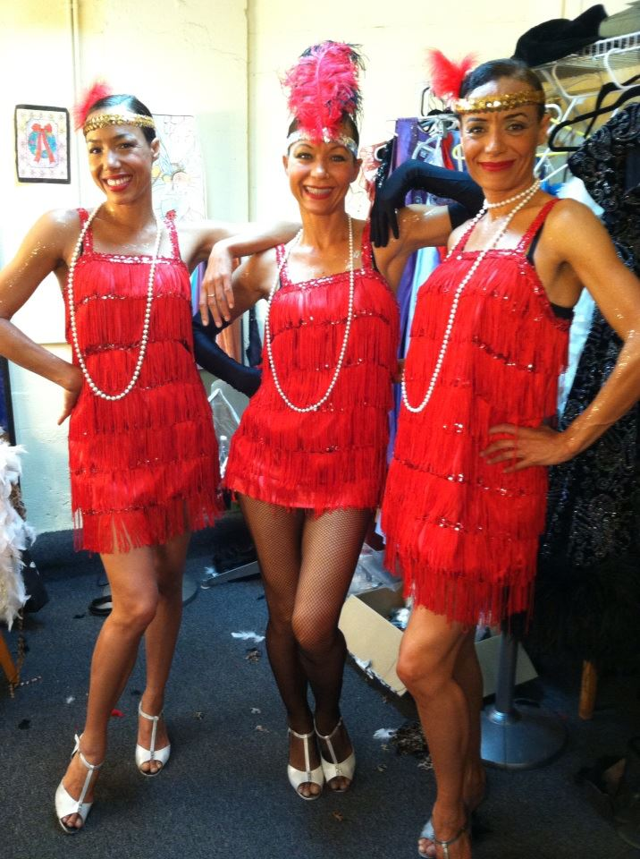 My beautiful... talented sisters Sunny and Gentry. backstage at The Cotton Club Musical Revue. (Maui, Hi)