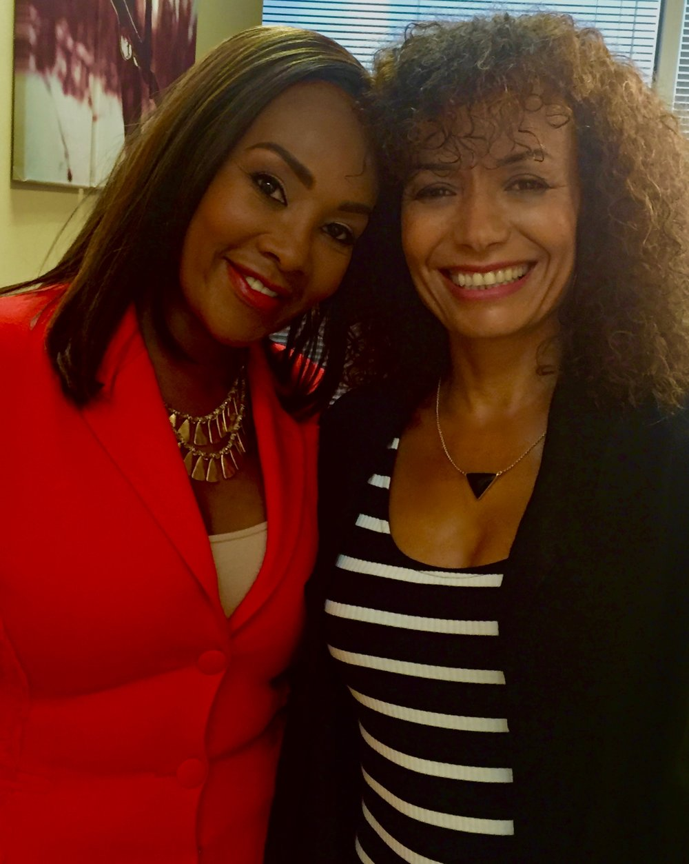 "With Vivica Fox on the set of, ""A Husband for Christmas"" What a sweetheart!"