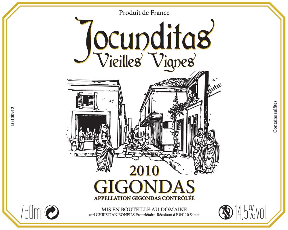 Jocunditas - Gigondas label