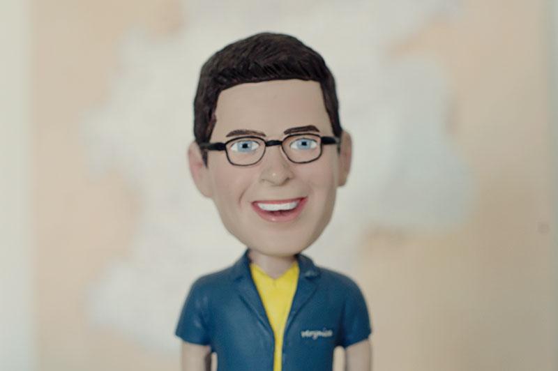 Matt's bobble-head likeness from his brother Jeffery and his wife Natasha.