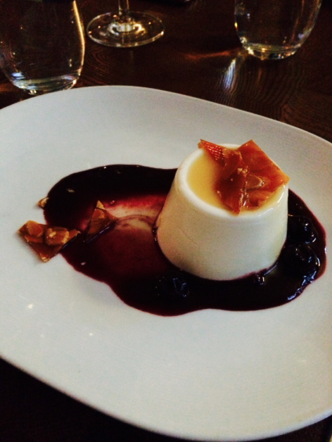 Yogurt panna cotta.