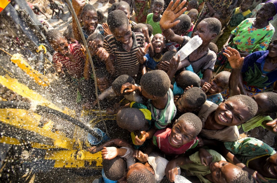 One of many inspiring photos from a charity: water project in Sikedi Village, Malawi.