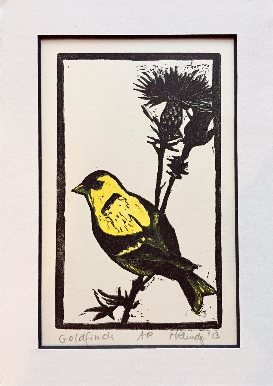 """Goldfinch"" by Maggi Rhudy Auction Item #123    Print, artist proof"