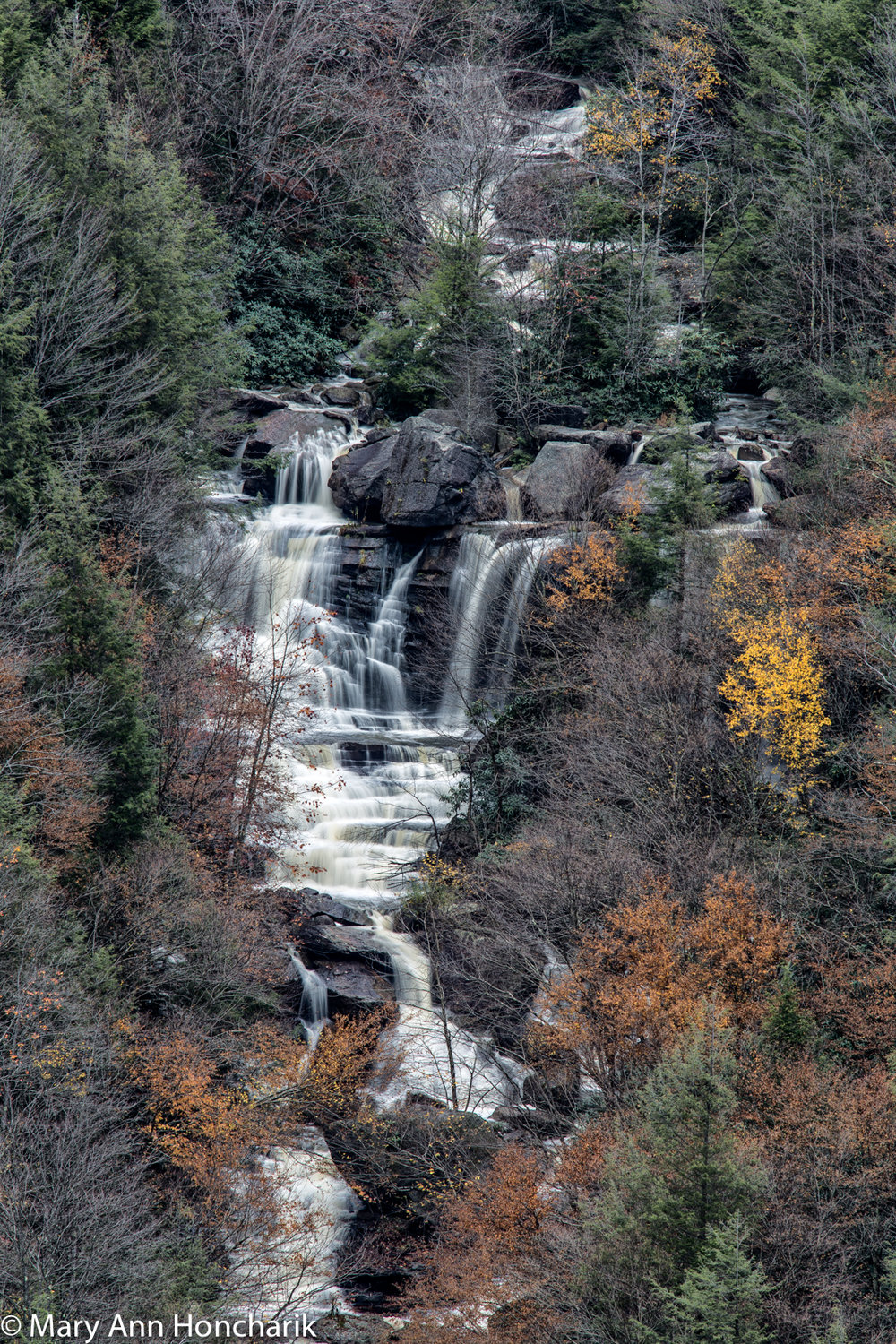 """Pendleton Falls"" by Mary Ann Honcharik Auction item #129   Giclee print photograph, silver metal frame, 20"" x 28""x 1.25"""