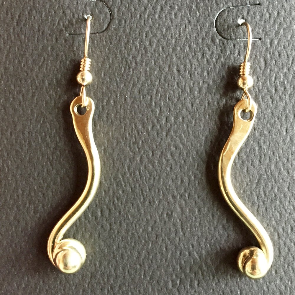 Brass Earrings by Hanna Ehlman Auction Item #143