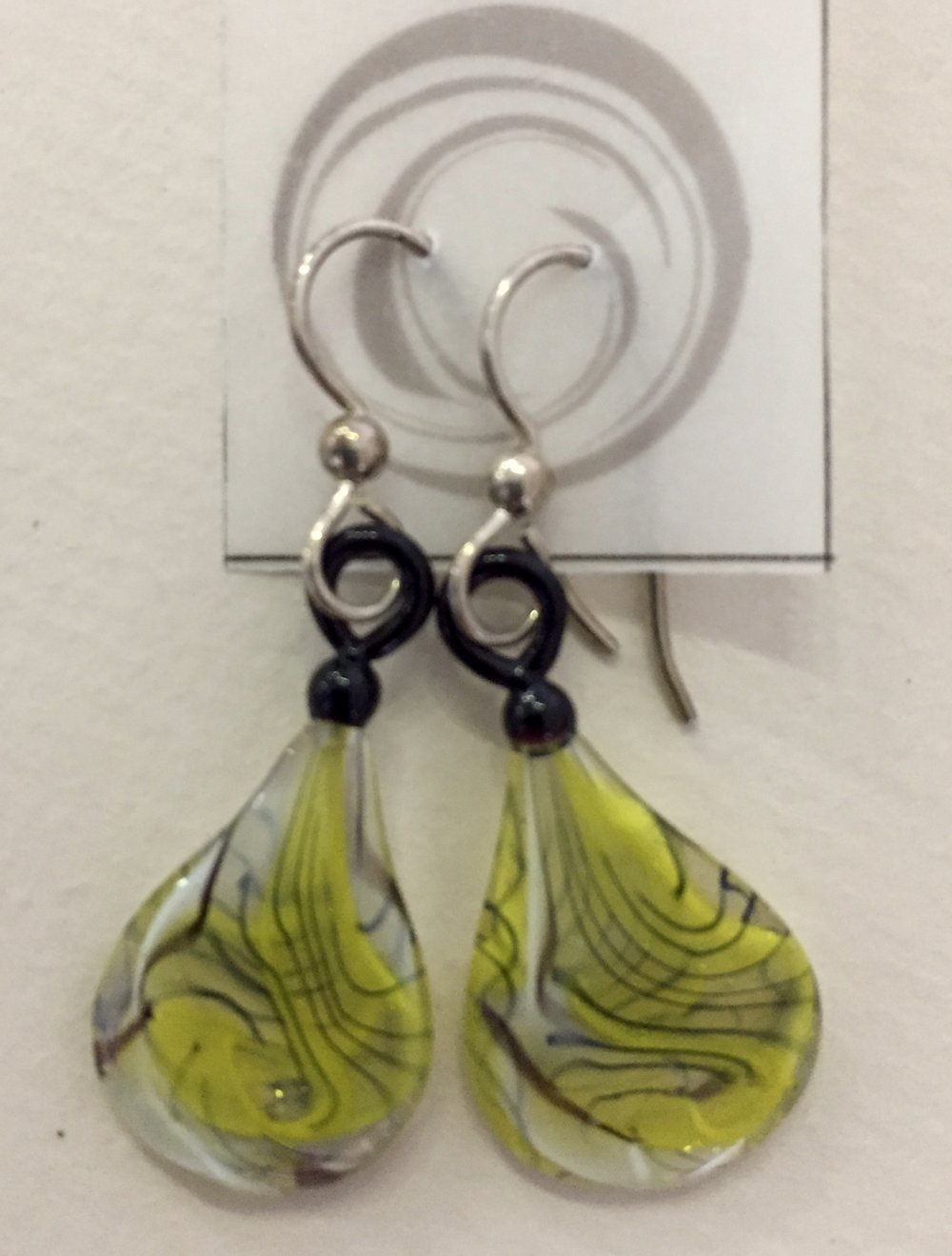 Dragonfly Earrings by Pittsburgh Glass Center Artist - Mike Mangiafico Auction item #132   Torch-worked Glass