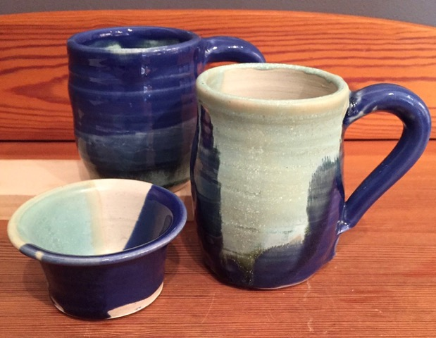 Mug Set with Tea Bag Holder by Jojo Patterson Auction Item #158   Ceramic