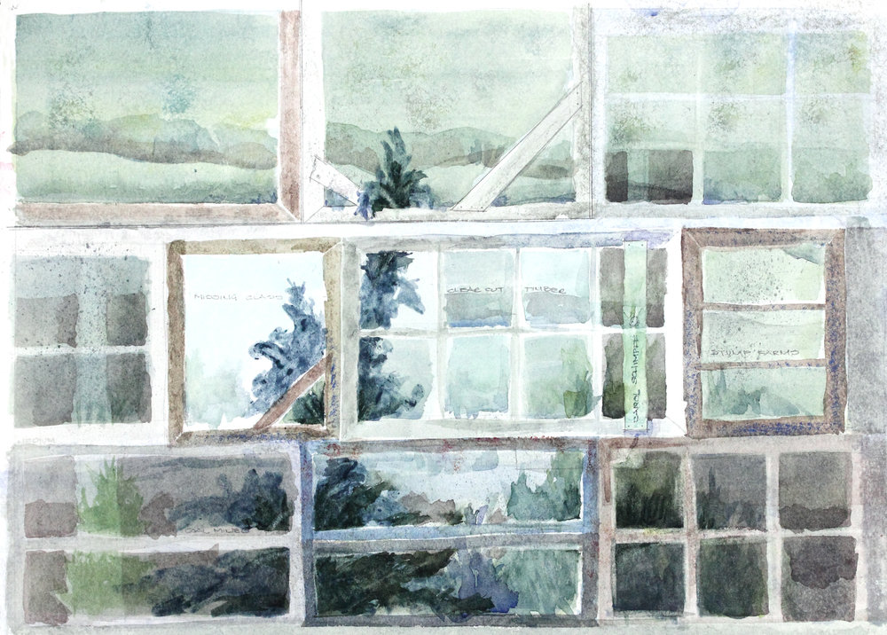 """Windows from the Past"" by Carol Schimpff Auction Item #165      Giclee print, limited edition #2/10, framed, 16"" x 20"""