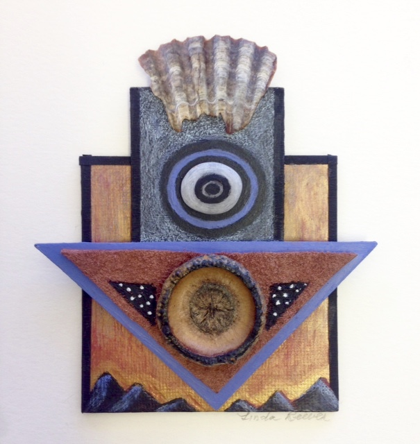 """Portal"" by Linda Reeves Auction Item #176   Collage, mixed media"