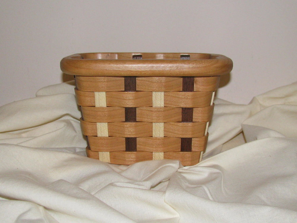 Flower Basket by Mike & Judy Simpson Auction Item #135   Wood
